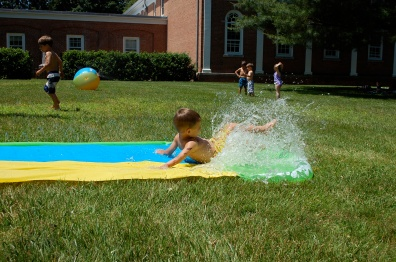Slip and slide fun